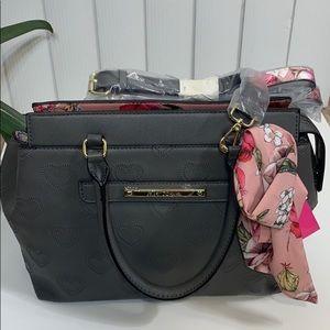 Betsey Johnson large satchel/crossbody scarf. NWT